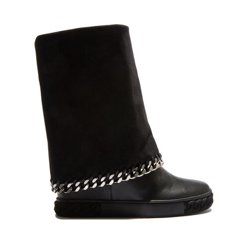 Sneakers - Black Sneakers in Calf Leather  26011b06062